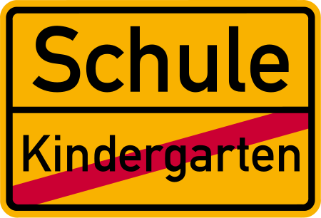 villagesign schule kindergarten 4454